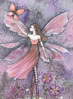 Molly Harrison Honor thy Neighbor - fairy - close up Watercolor Artwork, Watercolour, Elves And Fairies, Fairy Pictures, Unicorns And Mermaids, Fairytale Art, Beautiful Fairies, Flower Fairies, Fairy Art