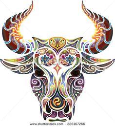 Head of a bull.
