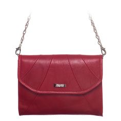 """Rue-Red Leather Grace Adele Clutch    A special clutch for a special occasion. Rich leather materials and a chic design complemented by delicate pleats.     Fits inside the exterior pocket on your favorite Grace Adele bag.     • Genuine leather  • 9"""" L, 7"""" H  • Detachable chain and 24"""" leather strap  click on picture for more info    https://myfashions.graceadele.us/GraceAdele/Buy/ProductDetails/10633"""