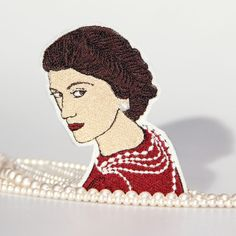 Coco Chanel Iron On Patch by mimosch on Etsy https://www.etsy.com/listing/506361539/coco-chanel-iron-on-patch