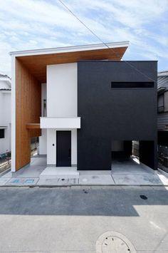 Modern home by DEN Design First Class Architect Interior Cladding, House Cladding, Facade House, Facade Architecture, Contemporary Architecture, Japanese Architecture, Contemporary Design, Modern Exterior, Exterior Design