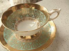 vintage English tea cup and saucer set Royal by ShoponSherman,