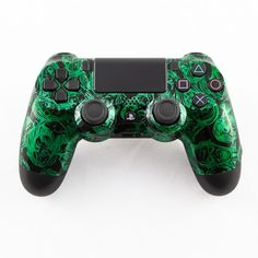 Candy Green Zombie PS4 Controller