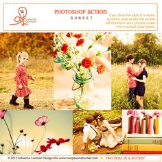 Photoshop Action Sunset INSTANT DOWNLOAD by bucketscrap23 on Etsy
