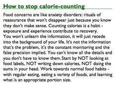 How to stop calorie counting?