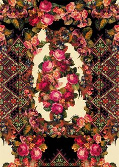 Alto Inverno love the symmetry of this Textile Patterns, Textile Prints, Textile Design, Print Patterns, Decoupage, Flower Prints, Cute Wallpapers, Design Elements, Wall Art Decor