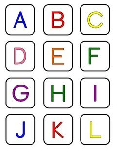 Free Alphabet Letter Cards! This product includes all 52 uppercase and lowercase letter cards IN COLOR. Scientific evidence has proven that COLOR STIMULATES MORE AREAS OF THE BRAIN and is a powerful aid in learning ... besides that, it makes learning more fun!