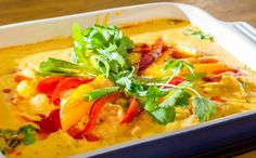 Fish And Seafood, Natural, Coco, Thai Red Curry, Clean Eating, Menu, Yummy Food, Healthy Recipes, Diet