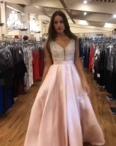 Long Princess V-neck Satin Tulle Pink Prom Dresses for Teens. Beautiful Prom Dresses in the Latest Styles at Amazing Prices. Huge Selection, All Sizes/Colors off and Fast Shipping! Affordable Prom Dresses, Prom Dresses For Teens, Pink Prom Dresses, Tulle Prom Dress, Beautiful Prom Dresses, Prom Dresses Online, Cheap Prom Dresses, Formal Evening Dresses, Homecoming Dresses