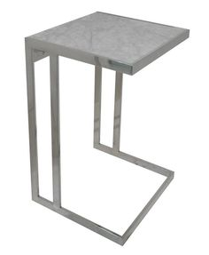336. MARBLE SIDE TABLE - MARBLE SIDE TABLE