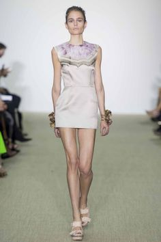 Simple shift with mineral print. Giambattista Valli ready-to-wear spring/summer '14