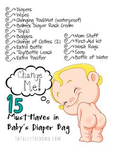 If it's your first time packing a diaper bag, you're in luck! I mase a list of 15 Must-Haves in Baby's Diaper Bag, and I also made a free printable