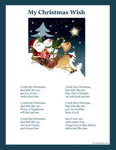 christmas poems · Craft Gossip | CraftGossip.com - printable Christmas poems for children + links to poems
