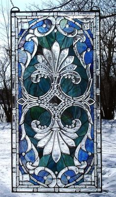 THE CRYSTAL MADONNA Stained Glass Beveled Sidelight Window TU-12