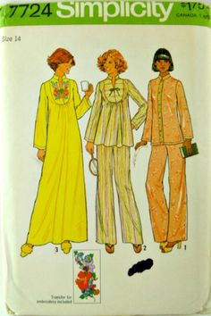 Vintage 70s Simplicity 7724 Pattern Pullover by VintageNeedleFinds,