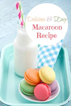 Easy Macaroon Recipe This macaron recipe is really easy to follow and tastes so good! It's one of my favorite desserts to make and makes a great gift for baby showers, weddings and more!