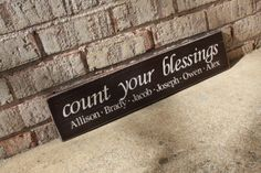 Here's another fabulous grandparent or parent gift! Pricing for a sign like this starts at $60, and can include up to 6 names, depending on the number of characters. Tomorrow is the last day to get your custom sign requests in for the holidays! Send your requests in now! http://signsbyandrea.com/signs/custom-signs