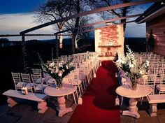 Newton Hall, Newton By The Sea,  Northumberland - Newton Hall is a fully functional Wedding Venue as well as country house for rent. There is a large function room with a fully stocked bar, sound system, large kitchen and terrace with open fireplace and electric retractable roof.