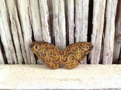 Handmade Porcelain Ceramic Butterfly Bead Handmade by MarshaNealStudio @Etsy