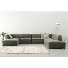 whkmp's OWN hoekbank rechts Town VII , Groen Sofa Tv, Couch, Diy Bett, Living Room Sofa Design, Diy Bed Frame, Minimalist Furniture, Chaise Lounges, Sofa Furniture, New Homes