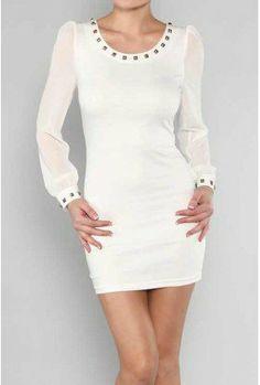 Sexy Studded Collar Dress