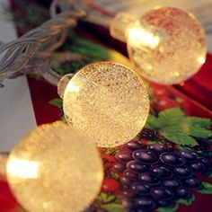 20leds Battery Powered Operated LED String light Crystal Ball Fairy Lights Lamp Bulbs For Home Or Wedding Decor Garden Party Christmas Bedroom Decoration: Amazon.co.uk: Lighting