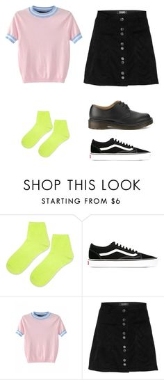 """""""Outfit idea"""" by haawnah on Polyvore featuring Topshop, Vans, Dr. Martens, men's fashion and menswear"""