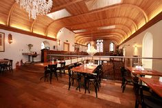 Interior design and layout of converted Methodist church into a restaurant in Skibbereen, Cork. www.linehansdesign.com