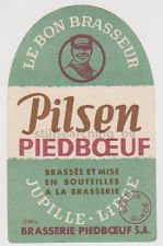 TOP Etiket etiquette BRIE PIEDBOEUF - JUPILLE Pilsen *** Jupiler, Liège, Luik