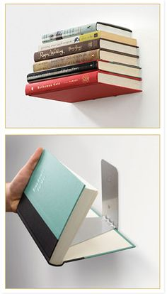 Invisible book stand for wall