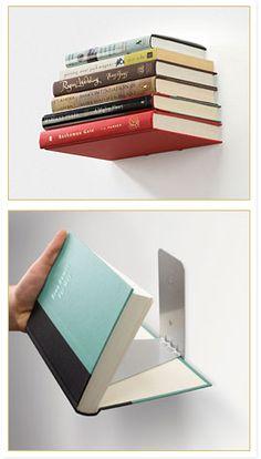 Chapa em L x Estande livros invisível #reutilize
