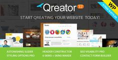 QREATOR V2.2 RESPONSIVE PREMIUM WORDPRESS THEME DOWNLOAD Wide variety of fine-tune options allow you to not only modify an existing design, they will help you to create your own. And you don't need to know the code or deal in programming for this!