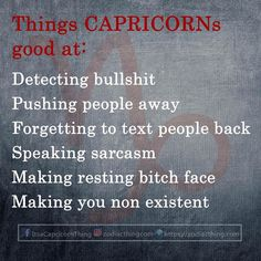 Agree or disagree ? #capricorn #capricorn #capricornseason #capricorns #capricornwoman #capricornman #capricornbaby #capricornborn #goat #capricornsrule #capricornthing #capricornworld #capricornteam #teamcapricorn #capricornnation #capricornlife #december #decemberbaby #january #januarybaby #zodiacthingcom #zoidacsign #zodiactees