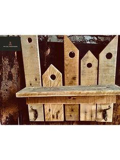 Can be ordered through Facebook using the link below Log Table, Bird Boxes, Slate Roof, Table Centers, Coat Hanger, Milling, Woodworking, Facebook, Link