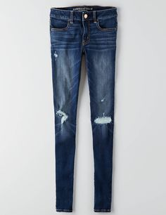 Shop at American Eagle for Jeggings that look as good as they feel. Browse our jeggings in different rises (from low to highest), in different washes and stretch levels. Blue Ripped Jeans, Torn Jeans, Ae Jeans, Distressed Denim Jeans, Jeans Pants, Jean Shorts, Trousers, American Eagle Jeans, American Eagle Outfitters Jeans