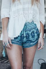 Christina Macpherson wears Spell Designs Sunset Road Shorts