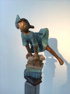 bronzen beeld van Babke Moelee