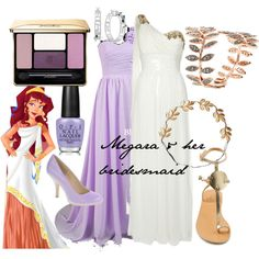"""Megara & her bridesmaid"" by amarie104 on Polyvore"