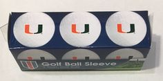Miami Hurricanes Golf Ball Pack of 3