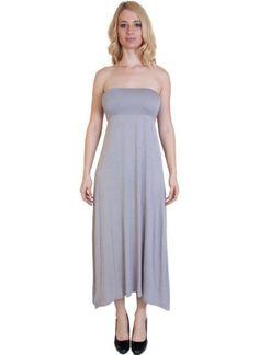 Agiato Apparel Maxi Dress 2 in 1, Women's, Size: Medium, Grey