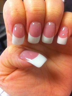 Pink and white nails done right!