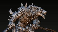 Werewolf. Model for 3D printing on the printer. Fashioned entirely in Blender.