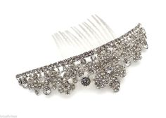 Beautiful Crystal Flower Hair Comb Slide Fascinator Hair Jewellery Bridal Prom