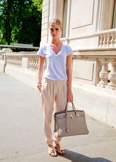 White shirt + khakis = perfect summer via Street-Syle @ Expimage