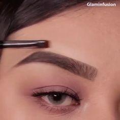 The - Augenbrauen Eyebrow Makeup Tips, Skin Makeup, Eyeshadow Makeup, Beauty Makeup, Gold Makeup, Makeup Eyebrows, Eye Brows, Thick Eyebrows, Makeup Hacks