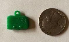 Cracker Jack Gumball Premium Toy Prize Green Plastic Radio Charm #CrackerJack