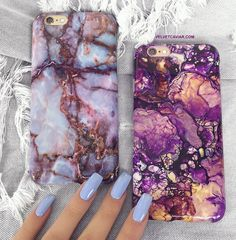 Protective galaxy marble phone case for an elegant look. Full Protection:Comes with full 360 degree bumper protection with access to all ports as well as a fron