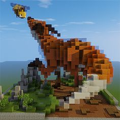A nation crafted Minecraft Epic Builds, Minecraft Statues, Minecraft House Plans, Easy Minecraft Houses, Minecraft Room, Minecraft House Designs, Minecraft Decorations, Minecraft Tips, Minecraft Blueprints