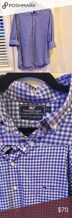 Vineyard Vines Gingham Button Down Shirt Your go-to Gingham! Light on the skin and quick drying. This classic fit sport polo will keep you cool.    - strong fabric that's light, elastic and quick - drying.   - whale logo on pocket Vineyard Vines Shirts