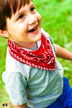 Cowboy Handkerchief Bibs - Pick Three Fabrics from over 100 Options - Made to Order.